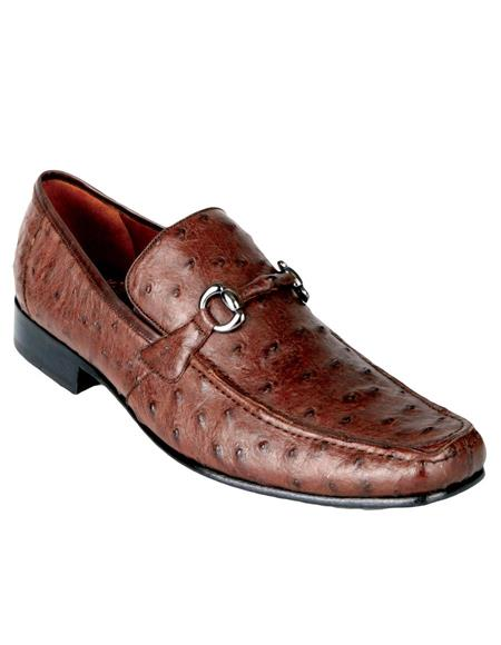 Mens Genuine Ostrich Dress