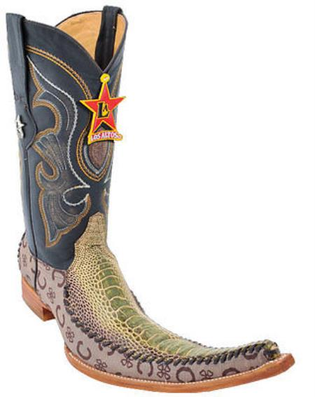 Western Cowboy Boots Authentic Los altos Genuine Ostrich