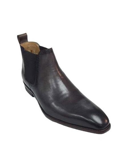 Mens Carrucci Burnished Calfskin