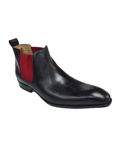 Mens Black With Red