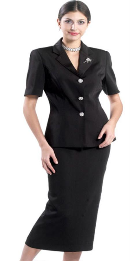 Product# KA8431 Lynda Couture Promotional Ladies Suits for Online - Liquid Jet Black