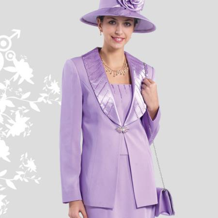 477fbd68702b2 Product# GN-47 Lady Church Suits for Online New Lynda's Classic Elegance  Rose Women Church 3 Piece Dress Set