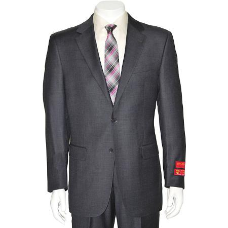 Product# KA1487 Authentic Mantoni Brand Grey Two-button Wool Fabric Suit