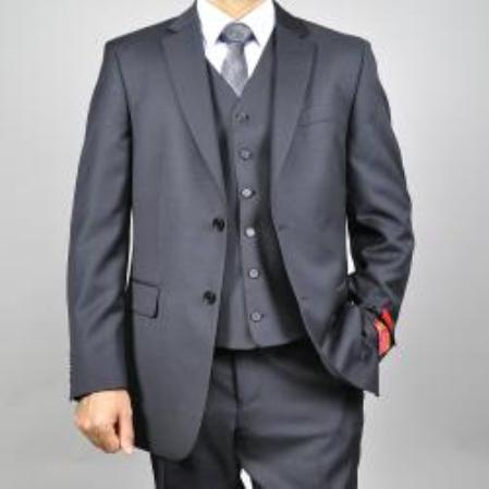 Product# KA1509 Authentic Mantoni Brand 3 Buttons Style Grey Wool Fabric Suit