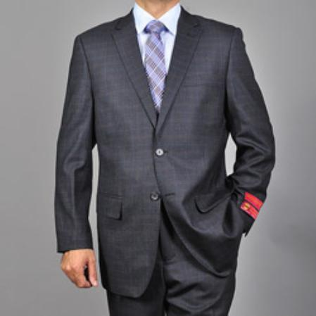Mantoni Brand Gray Wool Suit