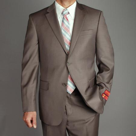 KA1485 Authentic Mantoni Brand Wool Fabric 2-button Suit