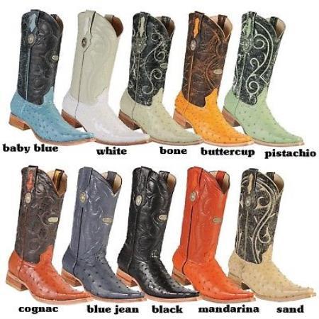 Versace-Toe Ostrich Western Cowboy