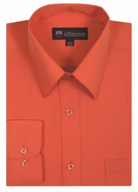 Mens Plain Solid Orange