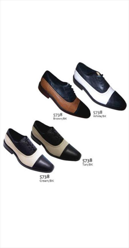 Product#AC-797 Two Tones Shoes for Online Black/White