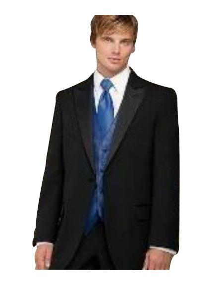 Product# GH Fitted Slim narrow Style Fitc Cut Designer 1 Button Style Peak Lapel 1920s tuxedo style With Pleated Slacks Pants Pants