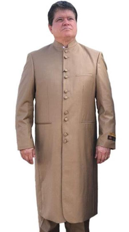 Product# AP595 Taupe ~ Khaki ~ Tan clergy pastor robes for males buy 10PC & UP For $110