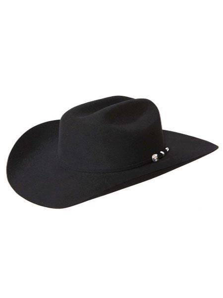 Mens Black Handmade Cowboy