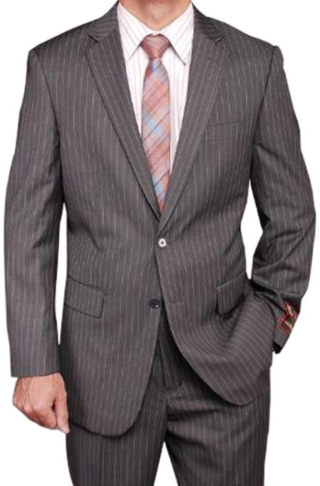 Grey Stripe ~ Pinstripe 2-button Suit