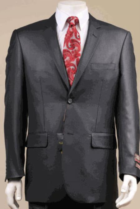Product# KA8500 Big and Tall Size 56 to 72 2-Button Suit Textured Patterned Sport Coat Fabric Liquid Jet Black
