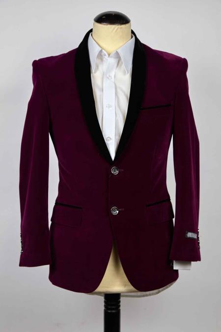Single Breasted Purple color