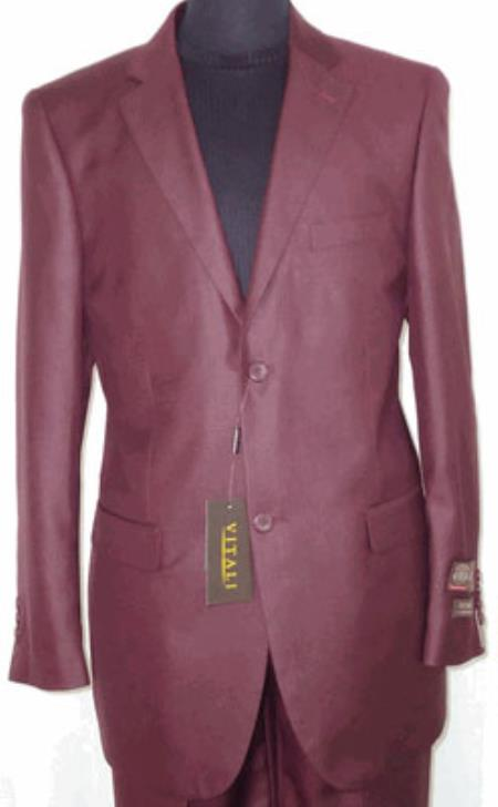 Product# KA9614 Big and Tall Size 56 to 72 2-Button Suit Textured Patterned Sport Coat Fabric Burgundy ~ Maroon ~ Wine Color