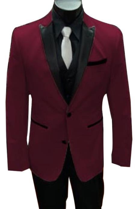 Alberto Nardoni Best men's Italian Burgundy Suits Brands Tuxedo
