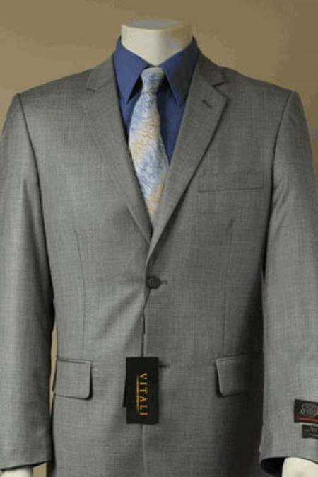Product# KA5301 Big and Tall Size 56 to 72 2-Button Suit Textured Patterned Sport Coat Fabric Stone