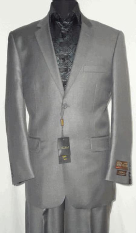 Product# KA6924 Big and Tall Size 56 to 72 2-Button Suit Textured Patterned Sport Coat Fabric Silvery Gray