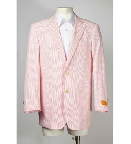 men's Fabric Two Button Pink Single Breasted Suit