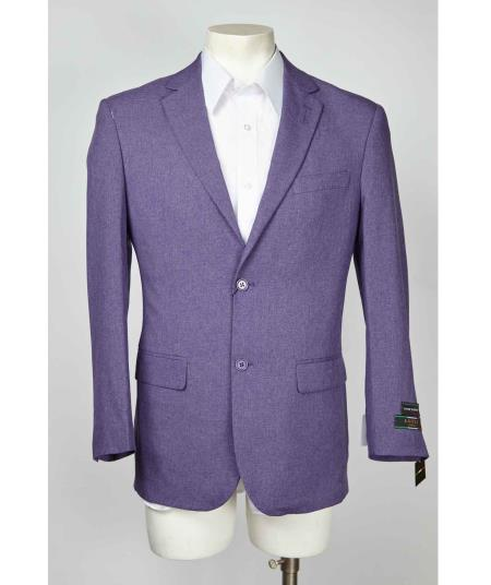 Product# SM634 Single Breasted Two Button Purple color shade Notch Lapel Blazer Online Sale