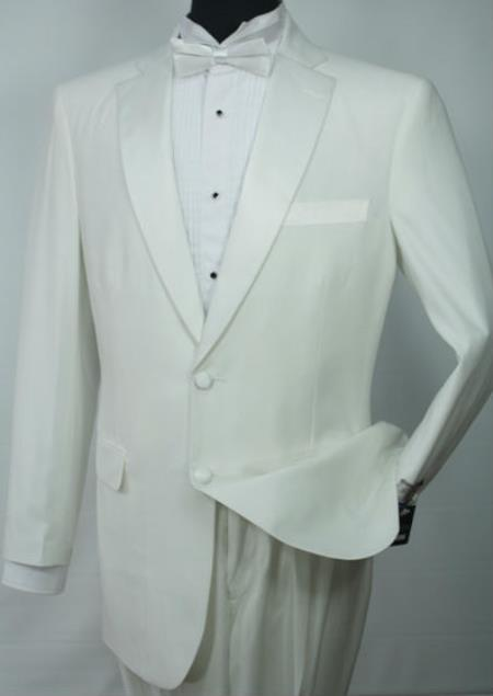 Product# SW945 Vittorio St.Angelo 2-Button Jacket with Single Breasted Tuxedo Off White