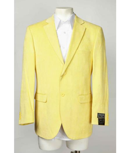 Two Button Graphic Printed Single Breasted Notch Lapel Blazer Online Sale Yellow