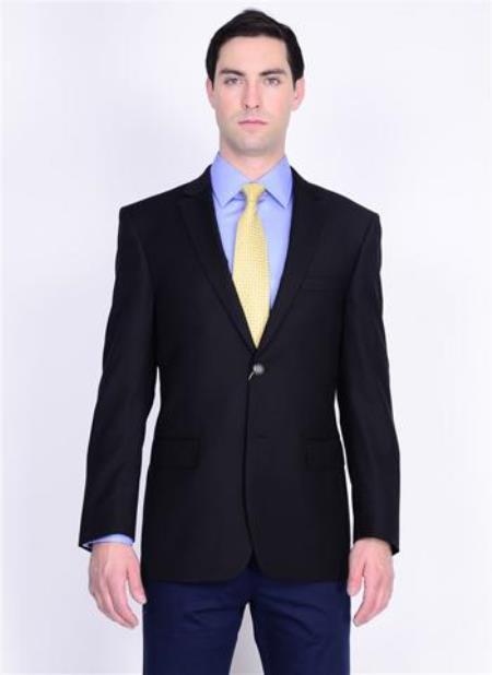 Authentic Mantoni Brand Solid 2 Button Style 100% Wool Fabric Blazer Online Sale With brass buttons Jacket Spor Coat Liquid Jet Black