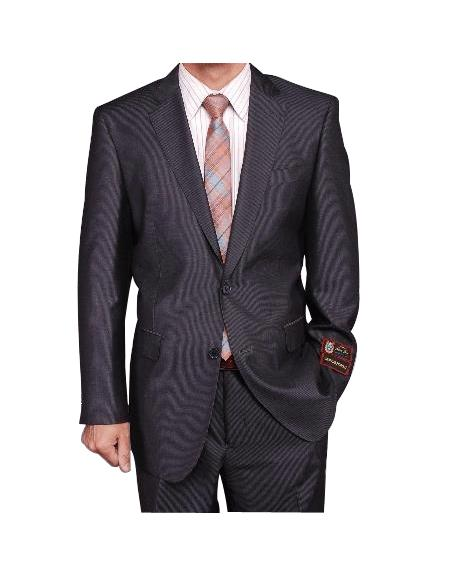 Gray Micro-Stripe ~ Pinstripe 2-button cheap discounted Suit