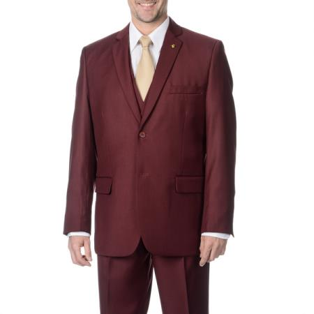 3-piece 2-button Vested Suit