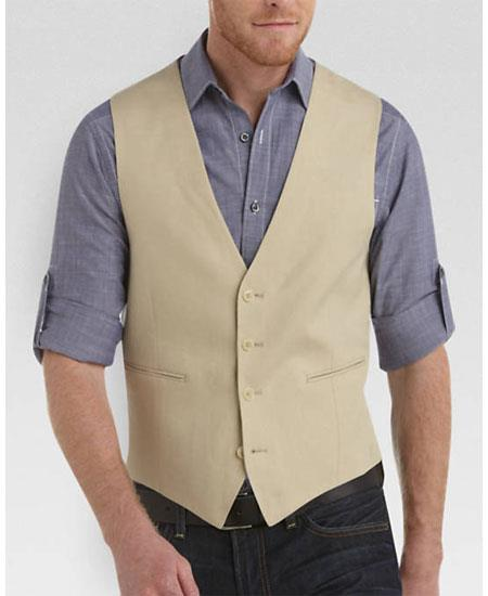 Product# GD1834 Men's 2 Piece Linen Causal Outfits Vest & Pants / Beach Wedding Attire For Groom