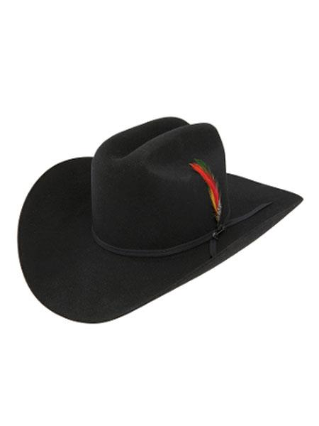 Product# KA4117 Stetson Hats_ 4x Rancher Classic Felt Cowboy Hat w-Feather