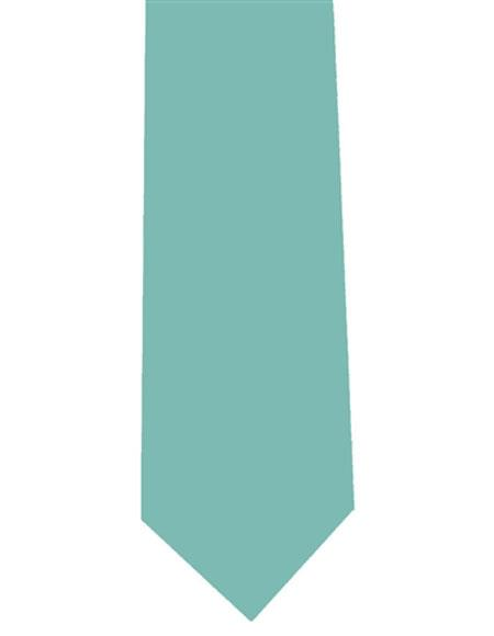 Product# JSM-401 Men's Aqua Extra Long Solid Polyester Neck Tie