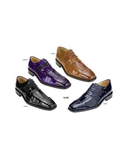 Belvedere attire brand men's Purple Dress Shoe for Online Available Colors In Black, Purple, Camel ~ Khaki And Navy