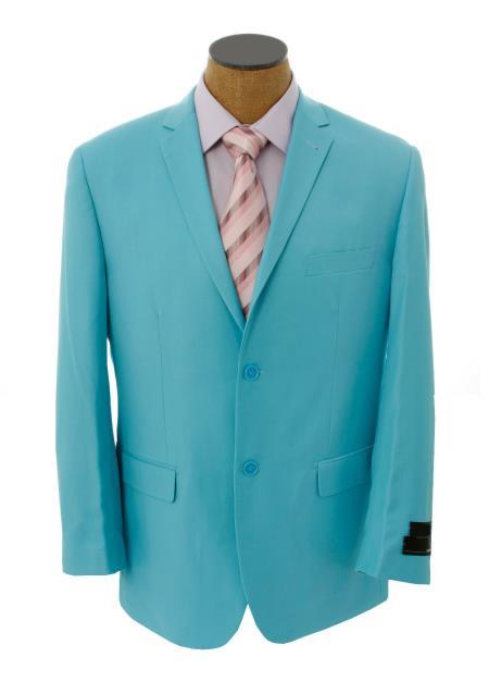Solid Light Blue ~ Sky Blue Blazer Online Sale