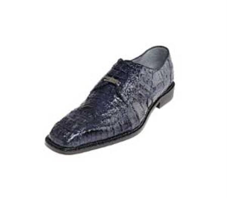Product# PN-7L Belvedere attire brand Chapo Navy All-Over Genuine Hornback Crocodile ~ Alligator skin Shoes for Online
