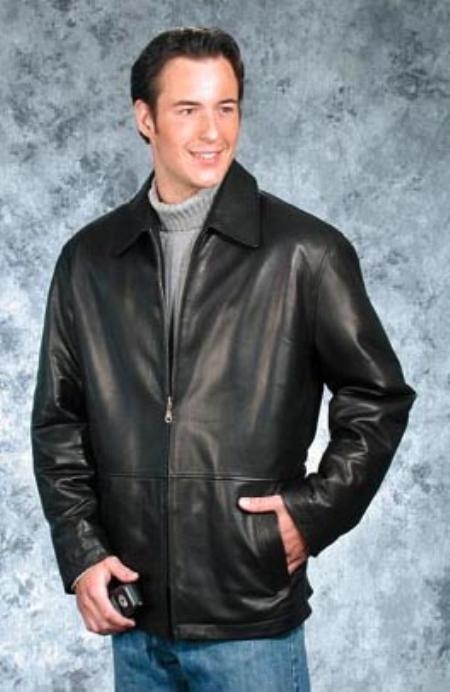 contemporary trendy casual jacket Liquid Jet Black Available in Big and Tall Sizes