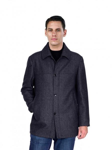 Mens Black Pea Coat