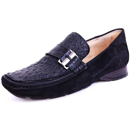 Zapato Avestruz Negro