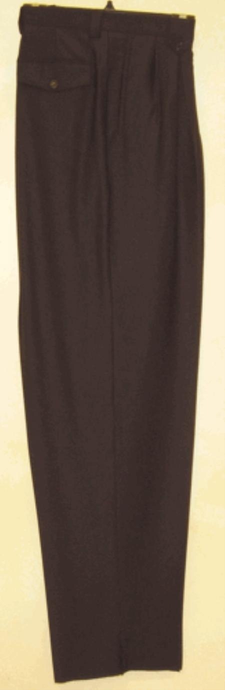 Product#NH511 long rise big leg slacks Liquid Jet Black wide leg dress pants Pleated Slacks baggy dress trousers