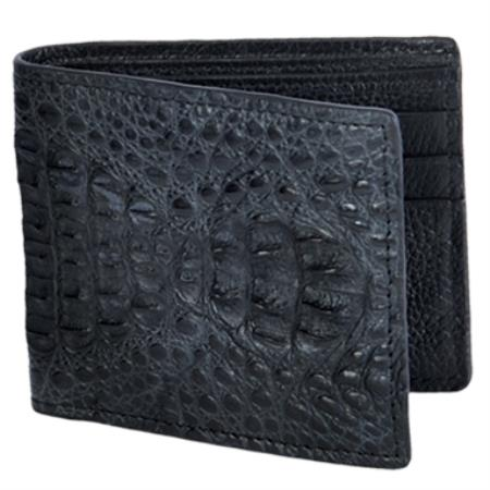 Product# KA3003 Carteras cai ~ Alligator skin Lomo Wallet – Negro