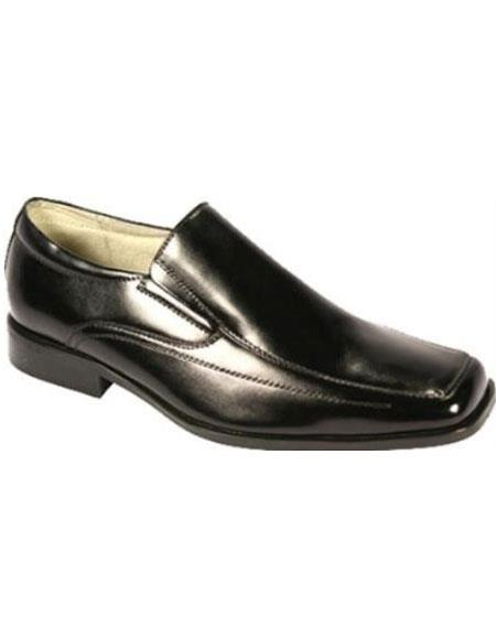 Product# KR7511 Moc Toe SR Dress Loafers Liquid Jet Black