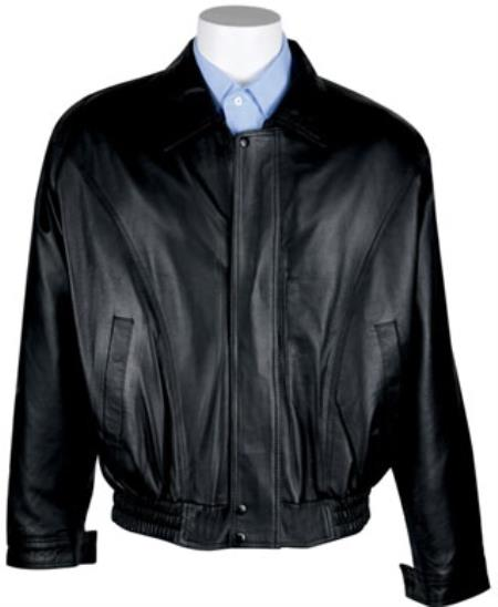 Product# RM1635 Zip-Out Liner Nappa Leather Bomber Jacket Black Available in Big and Tall Sizes