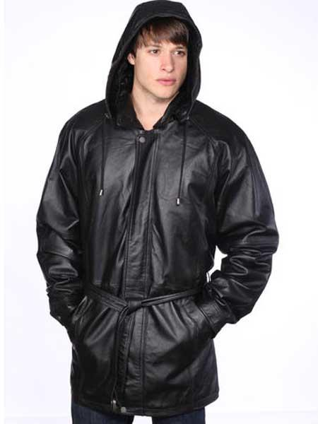 Mens Classic Black Leather