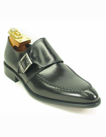 Mens Black Fashionable Leather