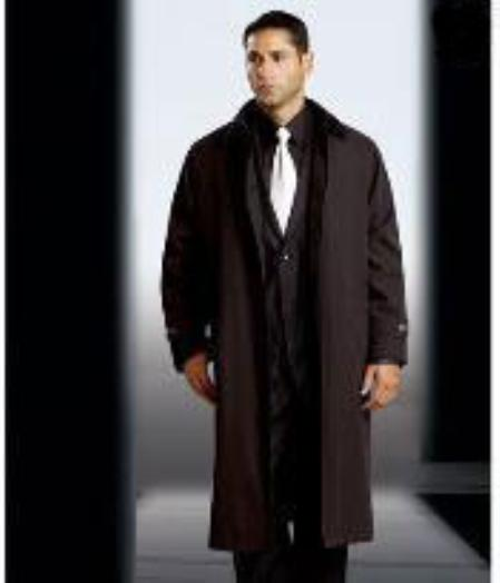 Polyester/Nylon Long Rain Coat-Trench