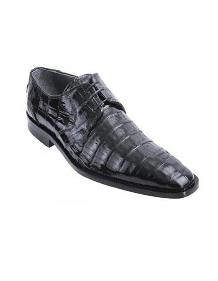 Liquid Jet Black Genuine All-Over Crocodile ~ Alligator Shoes skin Belly Shoes for Online