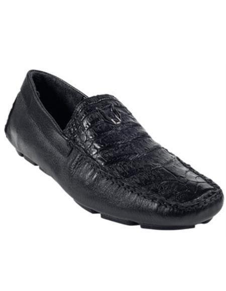Product# KA5499 Liquid Jet Black Genuine Cai Belly Driver Vestigium Driving Shoes for Online slip on loafers for