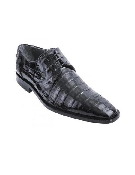 Product# PN_M70 Authentic Los altos Liquid Jet Black Genuine All-Over Crocodile ~ Alligator skin Belly Shoes for Online