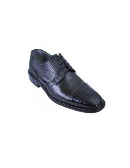 Liquid Jet Black Genuine All-Over Crocodile ~ Alligator skin Shoes for Online